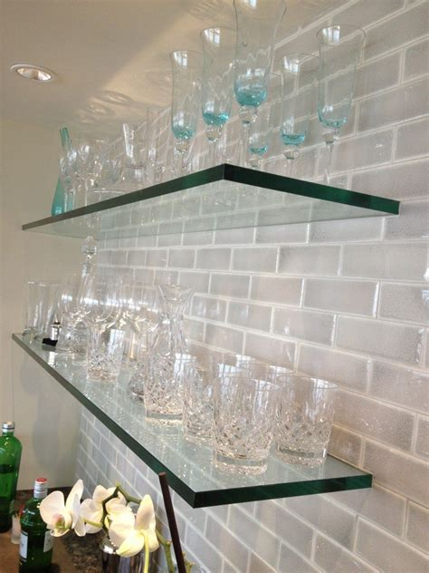 glass shelves home design