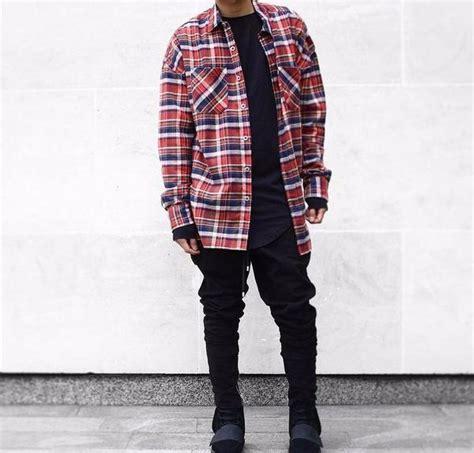 Kemeja Longshirt oversized flannel lumberjack shirt longline clothing