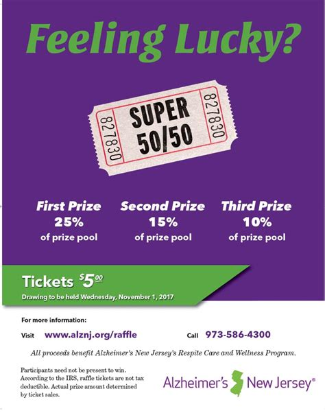 50 Flyers Seatle Davidjoel Co 50 50 Raffle Flyer Template