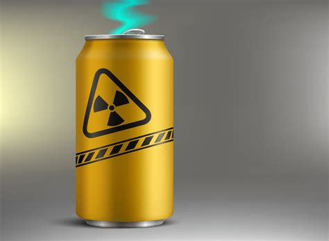 8 energy drinks a day when energy drinks actually contained radioactive energy