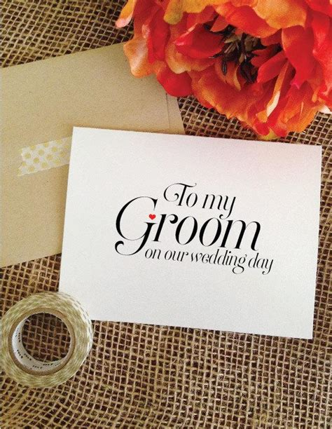 Groom Gift Card - to my groom on our wedding day card to my groom card wedding card bride gift to groom