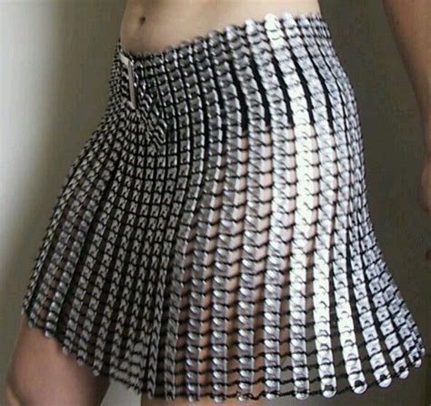 imagenes retro soda tab muy binita forma de resiclar falda de tabs upcycle