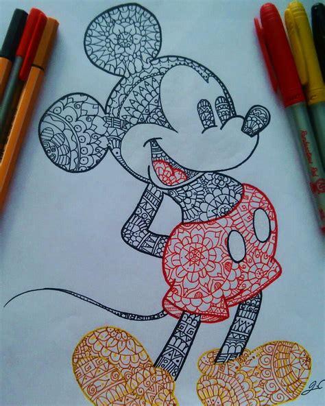 imagenes tumblr de mickey mouse mickey mouse pintado con mandalas dibujos pinterest