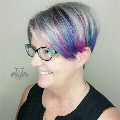 platinum silver hair color neon underlights platinum silver hair color undercut