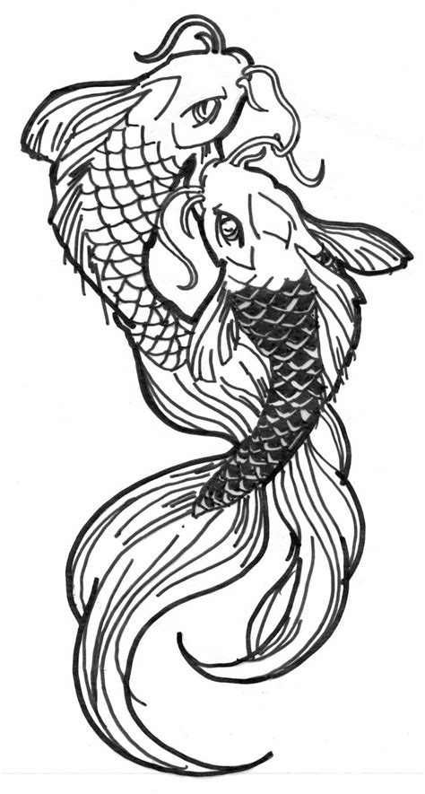 Drawing Koi Fish by Black And White Koi Fish Drawings Drawing Arts Sketch