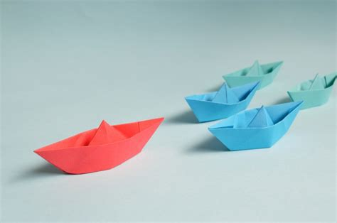 Origami Ships - origami ships on skitterphoto
