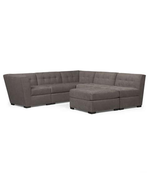 macy s roxanne sectional roxanne fabric 6 piece modular sectional sofa with ottoman