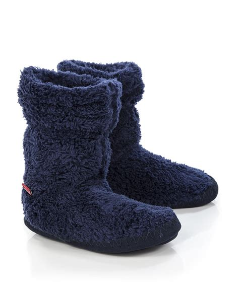 fluffy slipper boots joules boys padabout fluffy slipper boots navy v