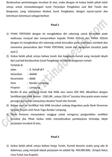 contoh surat perjanjian akses review ebooks