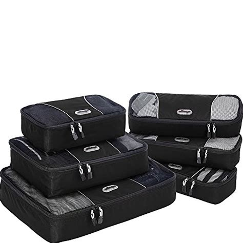 Ebags Packing Cubes 6pc Value Set by Ebags Packing Cubes 6pc Value Set Black Import It All