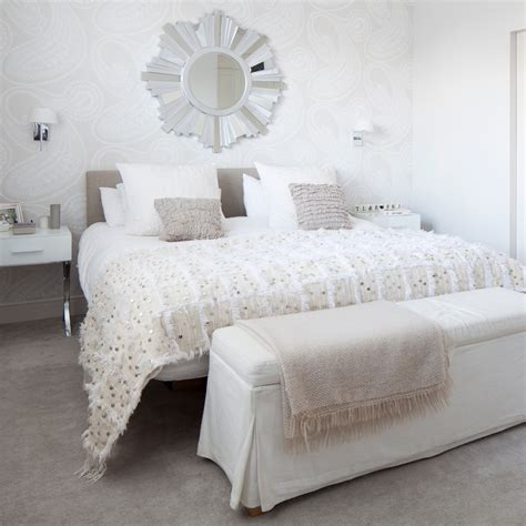 white bedroom ideas  wow factor ideal home