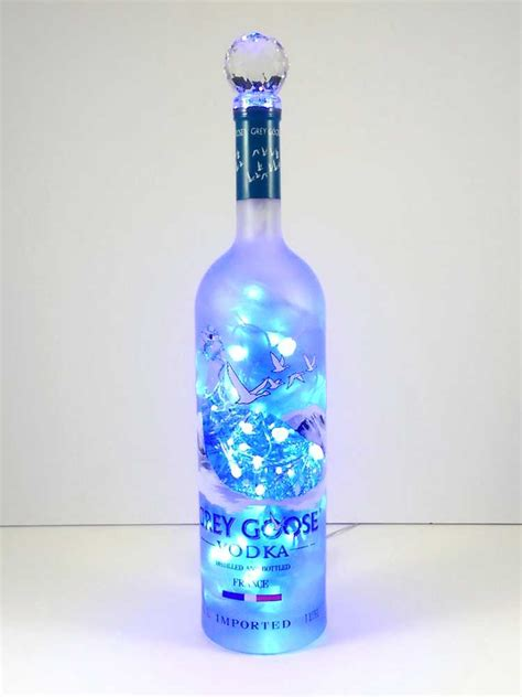 how to liquor bottle lights upcycled grey goose vodka mood therapy liquor bottle light
