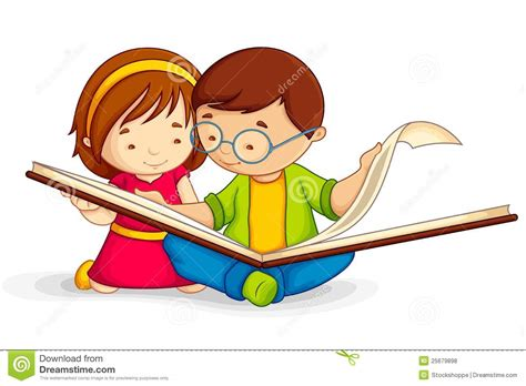 libro childrens writers artists kid reading open book stock vector illustration of preschool 25679898