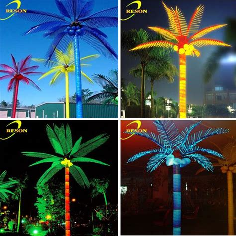 electric tree lights high quality artificial palm tree outdoor electric tree