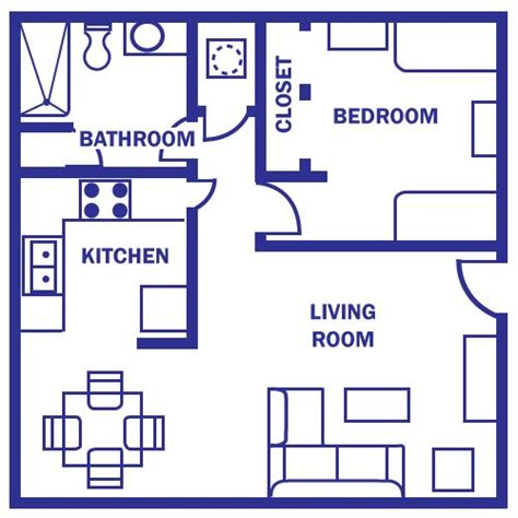 2 bedroom apartments under 600 600 sq ft apartment floor plan eldesignr com