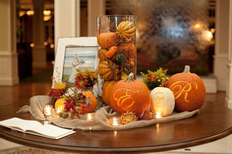 wedding fall decorations fall wedding table decoration with pumpkinswedwebtalks