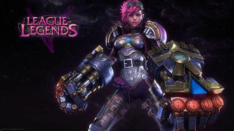 full metal vi league of legends fan art art of lol video game art vi league of legends 3d