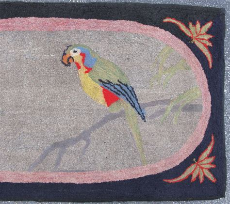 parrot rug hooked rug with parrot 02737 by cyberrug