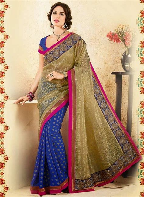 Pakistani and Indian Party Wear Sarees 2016 2017   BestStylo.com