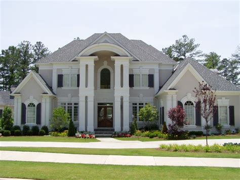 Light Grey House by Light Grey Stucco Navy Trim For The Home