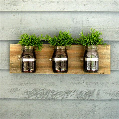 Mason Jar Wall Hanging Planter Organizer Decor Jar Wall Planter