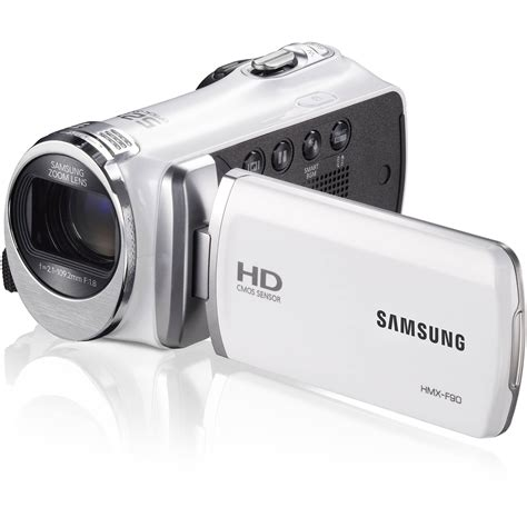 Flash Kamera Samsung samsung hmx f90 hd camcorder white hmx f90wn xaa b h photo