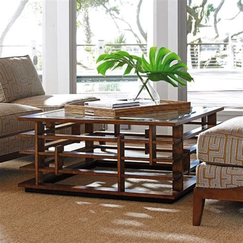 tommy bahama island fusion nobu square glass coffee table tommy bahama island fusion nobu square glass coffee table