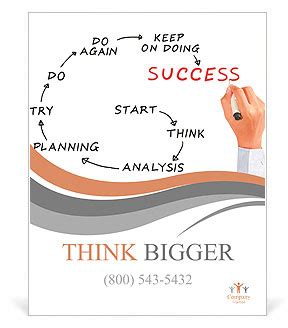 Template Meaning by Drawing Success Meaning Poster Template Design Id