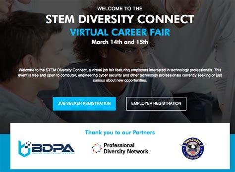 Http Www Mba Org Virtualcareerfair by 3 14 3 15 Stem Diversity Connect Career Fair