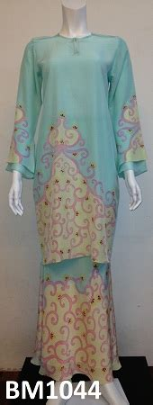 Baju Kebaya Kelantan batik sutera kelantan dan terengganu