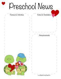 1000 ideas about preschool newsletter templates on