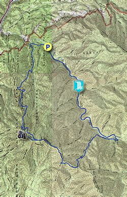 gsmnp trail map mt cammerer and big creek hike