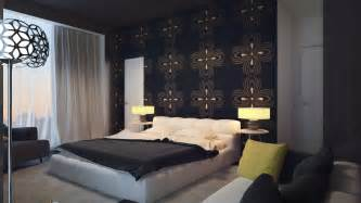 Bedroom Feature Wall by Black Bedroom Feature Wall Interior Design Ideas