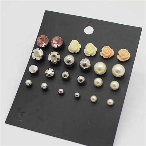 fashion jewelry accessories stud earring pack set
