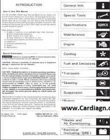 honda accord 1994 1997 service repair manual pdf