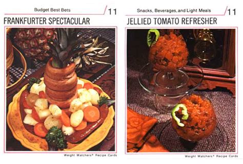 Weight Of A Gift Card - weight watchers recipe cards of the 70s foodiggity