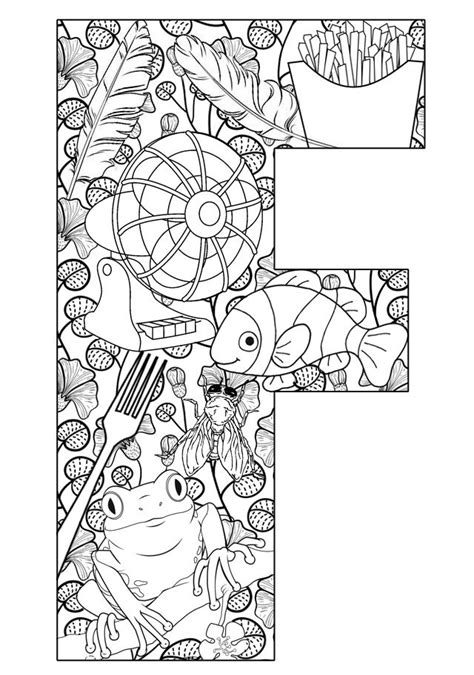 Alphabet F Coloring Pages by Teach Your Their Abcs The Easy Way With Free