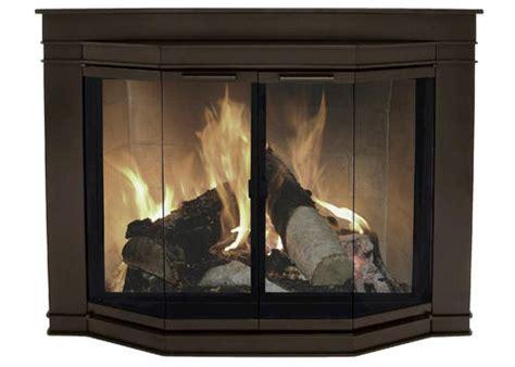 Fireplace Doors Menards by Glacier Bay Medium Bi Fold Bay Style Fireplace Door At