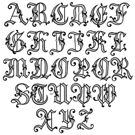 english letter tattoo designs fancy letters of the alphabet fonts