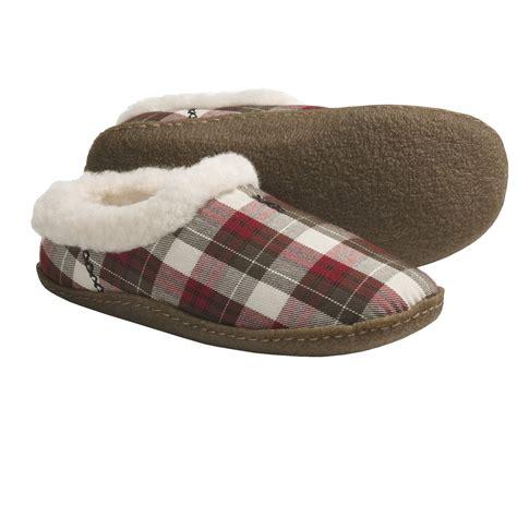 womens plaid slippers sorel nakiska plaid slippers faux fur lining for