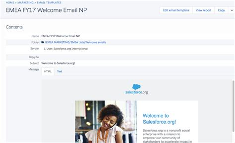 The Welcome Journey Donor Engagement With Pardot Pardot Html Email Templates