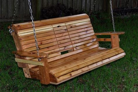 homemade porch swing unwind in your yard with a diy wood porch swing with cup