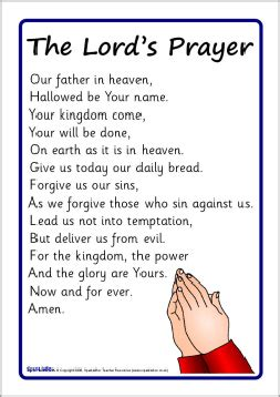 printable children s prayers the lord s prayer posters sb1827 sparklebox