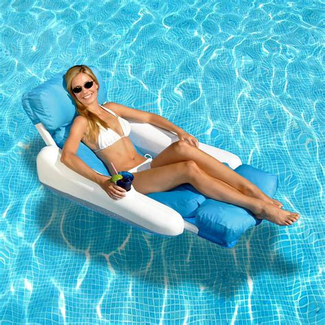 sunchaser floating lounge chair swimline sunchaser luxury floating pool lounger with