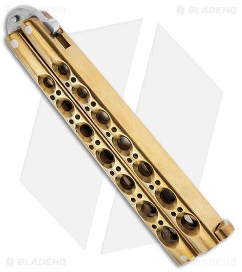 balisong usa bali song usa samson bowie brass handle