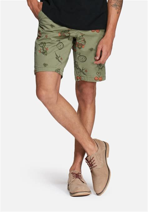 chinos tattoo shop chino shorts akm 230 noos green jones