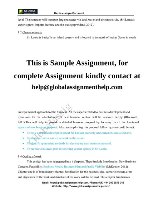 Business Plan For A Company Assignment Sle Transportation Business Plan Template