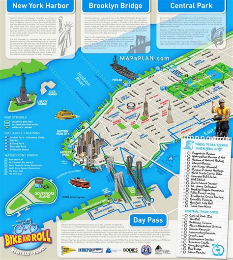 tourist map of new york city maps of new york top tourist attractions free printable