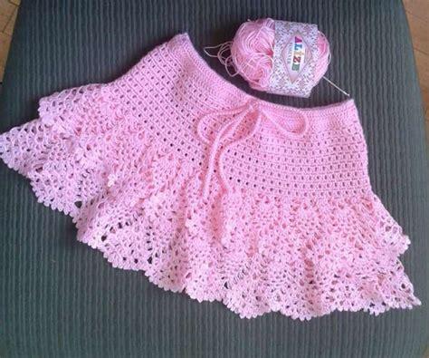 falda recta a crochet paso a paso faldas de crochet para ni 241 as08 nadia pinterest falda