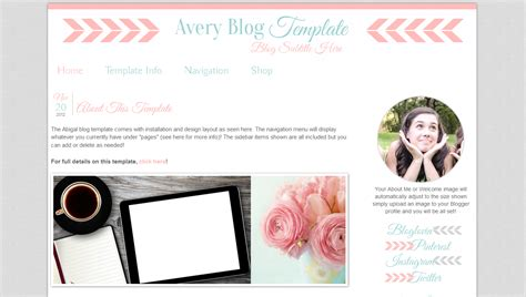 download layout blog gratis modern blogger template avery